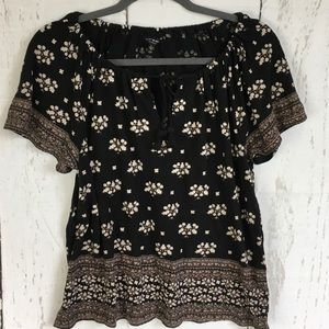 Lucky Brand Boho Top With Tassels